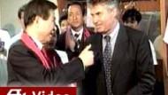 """""""Ein Held"""": Hiddink mit Staatspräsident Kim Dae-Jung"""
