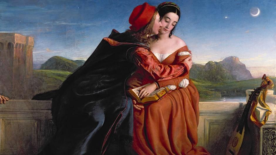 """Nur der Mond war Zeuge: Auch William Dyce' Gemälde """"Francesca da Rimini"""" von 1837 ist in der Ausstellung zu sehen."""