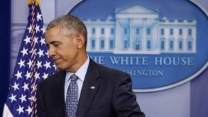 Obama: Amerikas Werte stehen auf dem Spiel