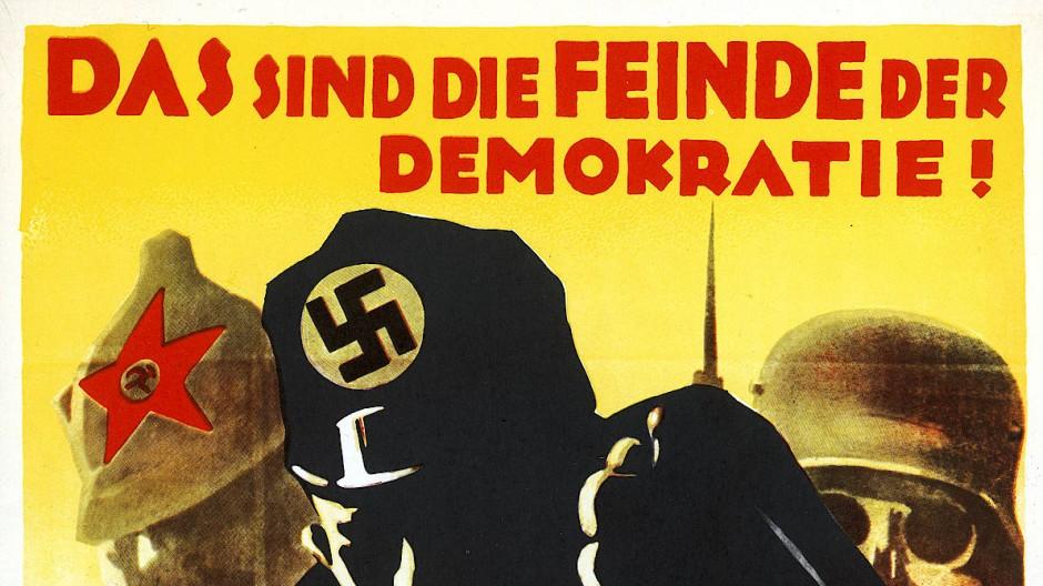 Feinde der Demokratie: Wahlplakat der SPD für die Reichstagswahlen im September 1930.