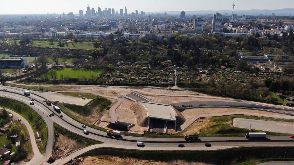 Mammutprojekt in Frankfurt: Auch für den Bau des Riederwaldtunnels ist seit Anfang des Jahres die Autobahn GmbH des Bundes zuständig.