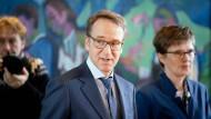 Bundesbank-Präsident Jens Weidmann und Vizepräsidentin Claudia Buch im Januar im Bundeskanzleramt