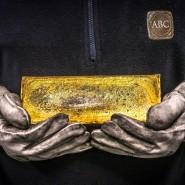 Kostbares Gut: Ein 20-Kilo-Barren Gold.
