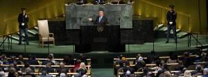 Alle Augen auf Trump: Der amerikanische Präsident spricht vor der UN-Vollversammlung.