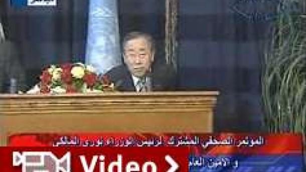 Ban Ki-moon entkommt Raketenangriff