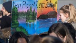 Tausende Schüler demonstrieren in Hessen für den Klimaschutz