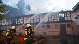 Pferde aus brennendem Reiterhof gerettet