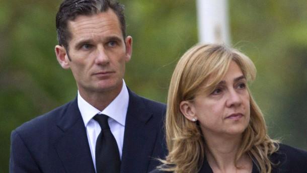 Schwester des spanischen Königs vor Gericht
