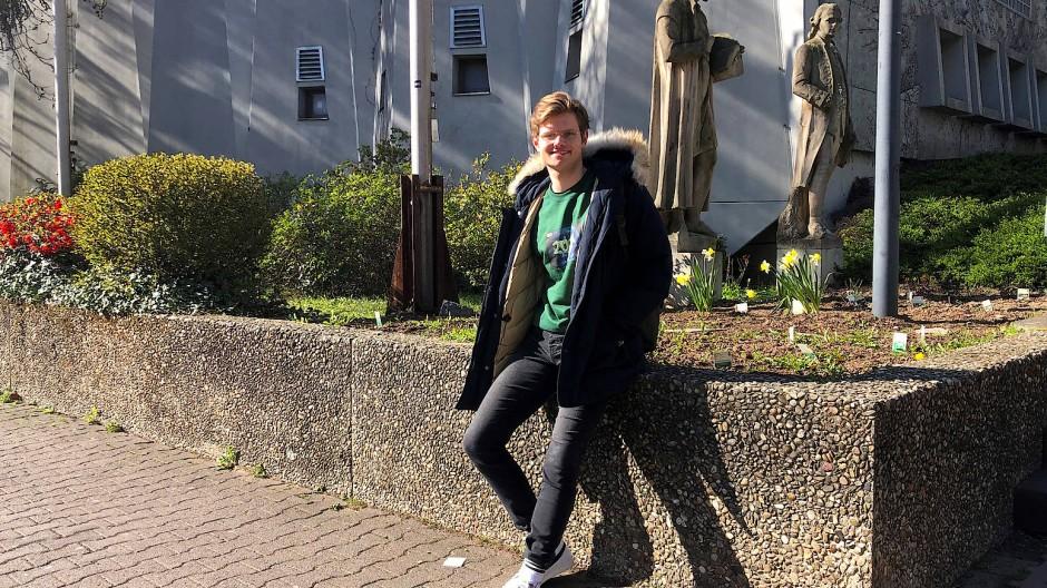 Lernstress während der Corona-Krise:  Leo Löckle vom Lessing-Gymnasium Frankfurt
