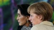Merkel empfängt die Friedensnobelpreisträgerin