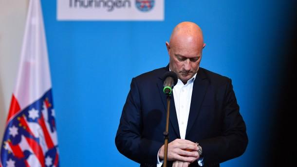 """""""Wir halten die Verhältnisse in Thüringen für nicht erträglich"""""""