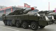 Nordkorea arbeitet an nuklearen Interkontinentalraketen, die auch Amerika treffen könnten.