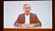 Ghosns Anwälte zeigten am Dienstag eine Video-Botschaft ihres Mandanten.