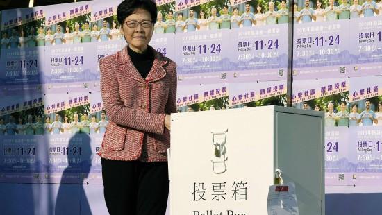 Hohe Wahlbeteiligung in Hongkong