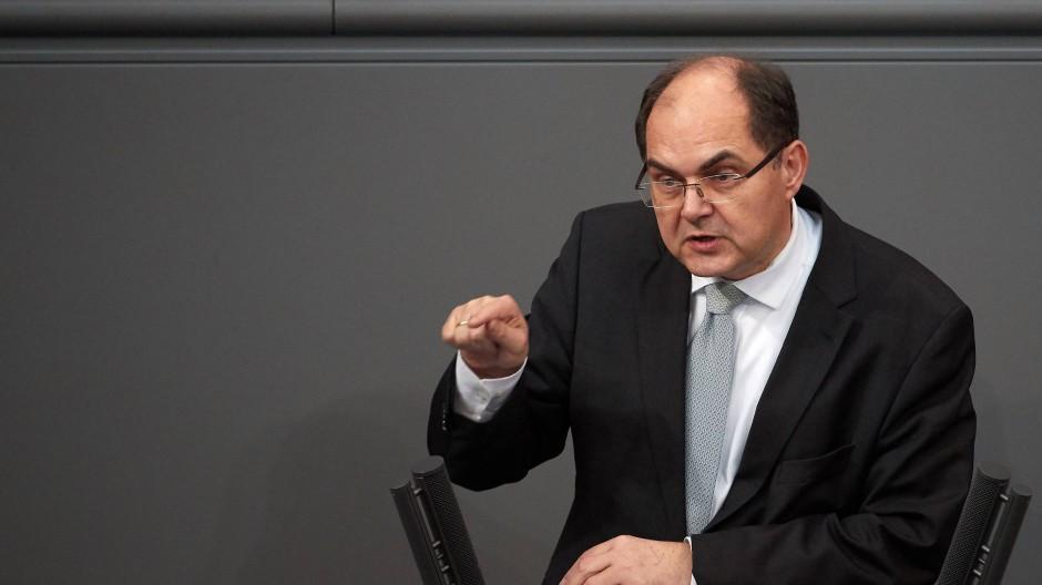 Christian Schmidt im Februar 2018 im Bundestag