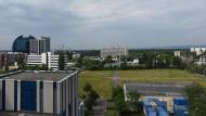 Blick vom Dach: Anstelle des Siemens-Verwaltungsgebäudes soll ein neues Frankfurter Viertel entstehen.