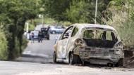 Fatale männliche Eifersucht: Der ausgebrannte Wagen der Studentin Sara Di PIetrantonio in Rom