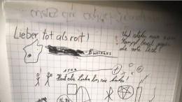 SS-Lied auf Flipchart im Studentenhaus entdeckt