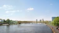 Wie in Florenz: Das Büro B&V Architekten schlug vor, das Museum in einem Brückenbau unterzubringen.
