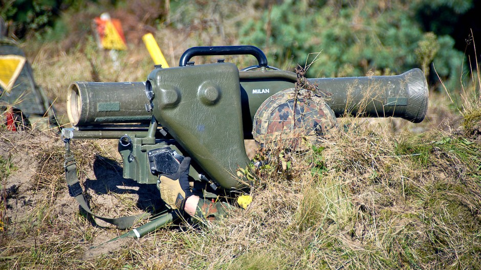 Gut getarnt aber schwer mit einem Schinken zu verwechseln: eine Panzerabwehrwaffe (Symbolbild).