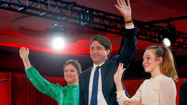 Trudeau feiert sich