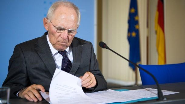 Schäuble zu Steuerschätzung