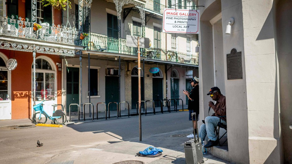 Leere Straßen in New Orleans