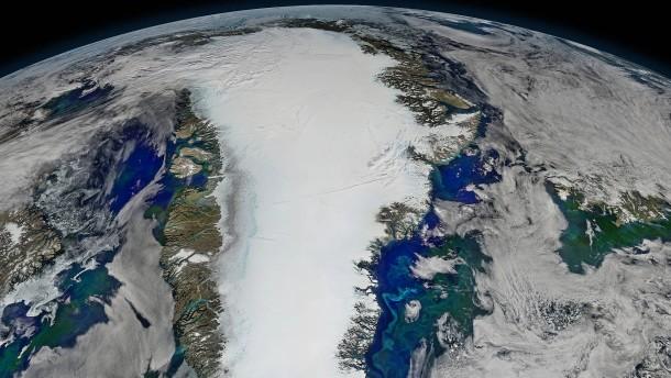 Satellitenaufnahme Grönland