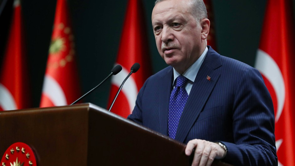 Der türkische Präsident Recep Tayyip Erdogan am 5. April in Ankara