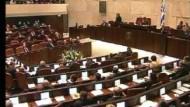 Kanzlerin vor der Knesset