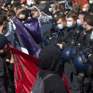 Aufgeheizte Stimmung: Demonstrationen in Frankfurt zu den Corona-Verordnungen