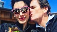 Wahre Liebe: Star-Banker Alexander Dibelius mit seiner Frau Laila.