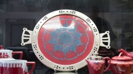 Keramikglasuren mit geometrischen Formen