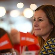Von Neonazis bedroht: Janine Wissler, Die Linke