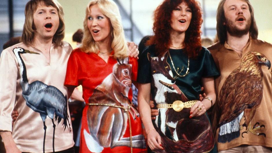 Ein Comeback? Die schwedische Popgruppe Abba mit Björn Ulvaeus, Agnetha Fältskog, Anni-Frid Lyngstad und Benny Andersson im Februar 1978.