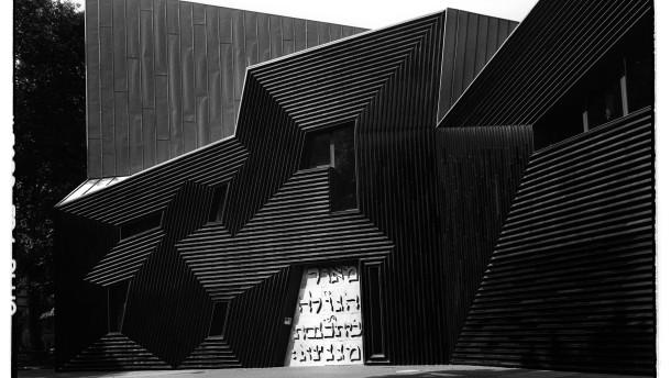 Mainzer Synagoge im Abendlicht
