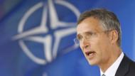 """Klares Signal"": Nato-Generalsekretär Jens Stoltenberg steht hinter der Truppenpräsenz im Baltikum."