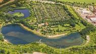 Die Kleingartenanlage am Angersdorfer Teich