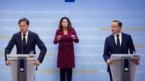Niederlande verschärfen die Maßnahmen