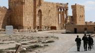 Assads Alliierte: Russische Spezialkräfte in der Wüstenstadt Palmyra.