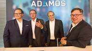 Einheitlicher Auftritt: die Vorstandsvorsitzenden Thönes (DMG Mori), Dieter (Dürr), Streibich (Software AG) und Spitzenpfeil (Zeiss)