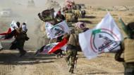 Teil einer Schattenarmee: Kämpfer der schiitischer Milizen