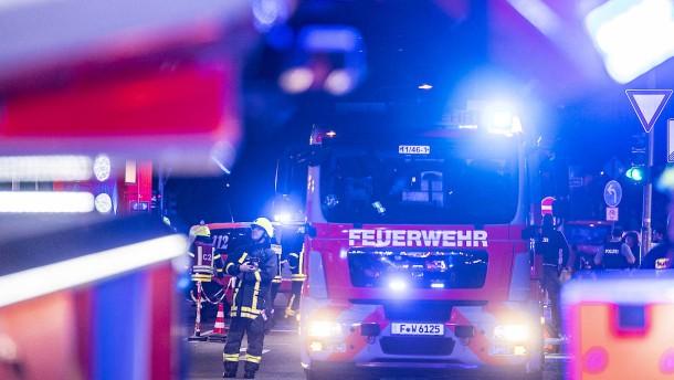 Feuer in einem Gebäude der Frankfurter Universität
