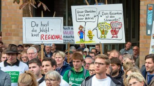 Landwirte protestieren gegen Agrarpolitik