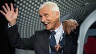 Hat gut lachen: Vorstandsvorsitzender von VW, Matthias Müller, freut sich über Rekordgewinne.