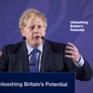Selbstbewusst: Boris Johnson in London