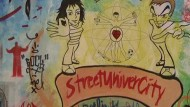 Köhler würdigt Graffiti und Hip-Hop an der Straßen-Uni