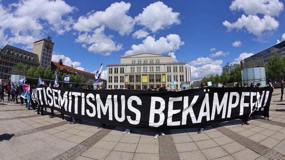 Pro-israelische Demonstration im Mai in Leipzig.