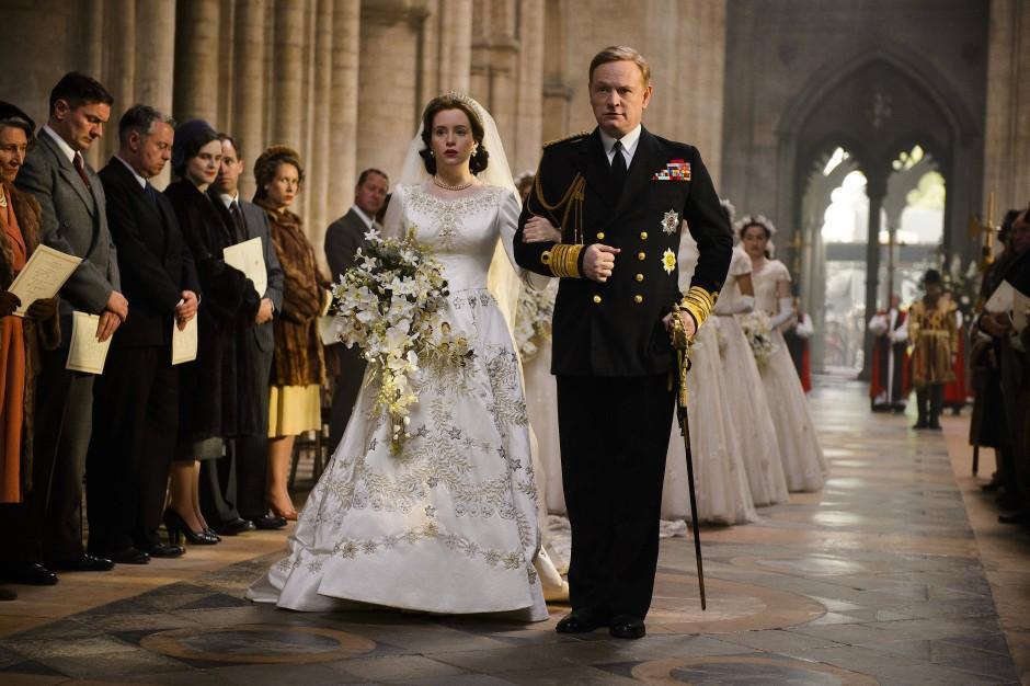 Auf dem Weg zum Altar: Elisabeth (Claire Foy) und ihr Vater König George VI. (Jared Harris)
