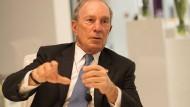 Michael Bloomberg, 76, auf Stippvisite in seinem Frankfurter Büro.